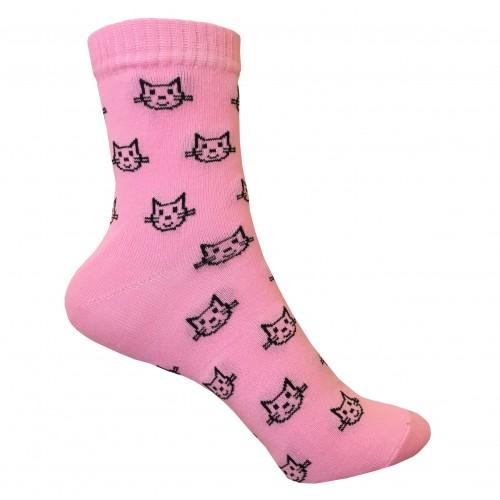 Классические носки с котиком VERONA (розовый)