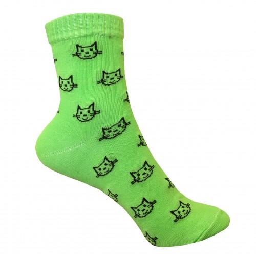 Классические носки с котиком VERONA (зеленный)