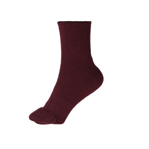 VERONA Махровые медицинские носки бордовые