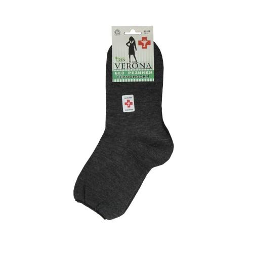 VERONA Махровые медицинские носки серые