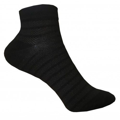 Укороченные носки полоска в сетку VERONA (черный)
