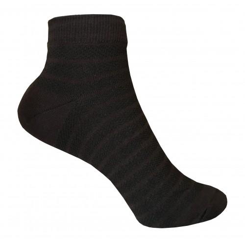 Укороченные носки полоска в сетку VERONA (коричневый)