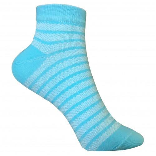 Укороченные носки полоска в сетку VERONA (бирюза)