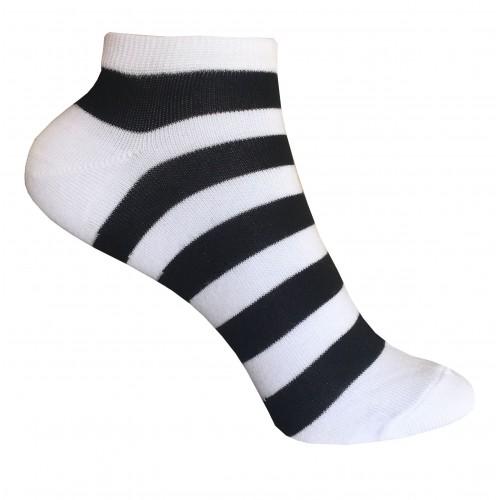 Женские укороченные носки в полоску VERONA (черно-белый)