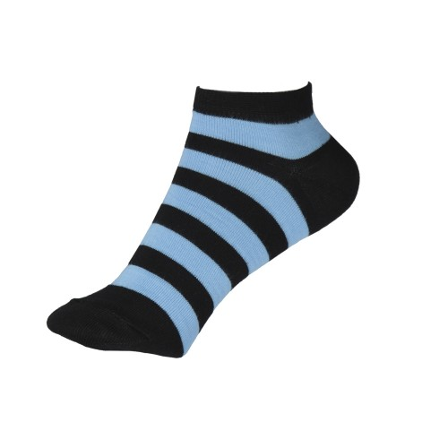 Женские укороченные носки в полоску VERONA (голубой)