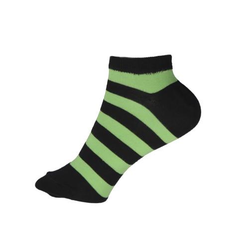 Женские укороченные носки в полоску VERONA (зеленные)