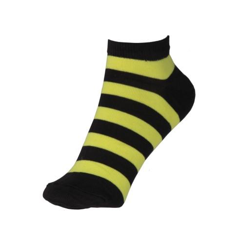 Женские укороченные носки в полоску VERONA (желтые)