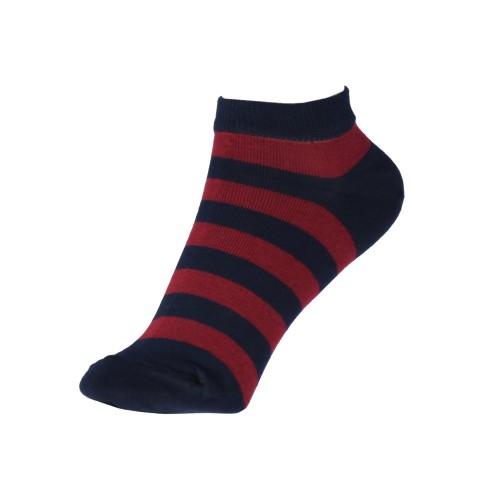 Женские укороченные носки в полоску VERONA (бордовые)