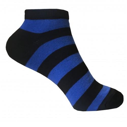 Женские укороченные носки в полоску VERONA (черно-синий)