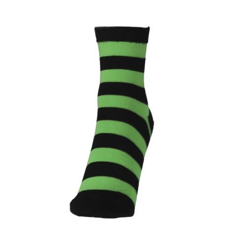 Женские полосатые носки зеленые VERONA