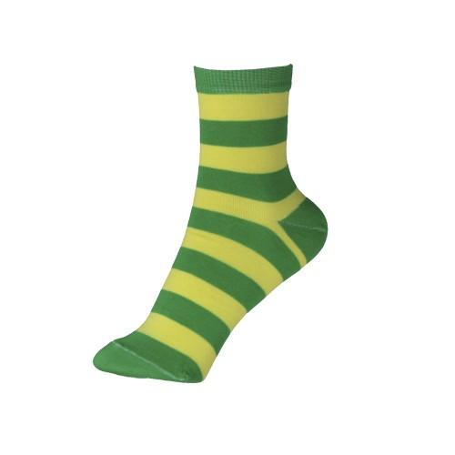 Женские носки в полоску VERONA (желто-зеленные)